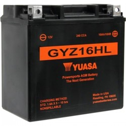 BATTERY YUASA HIGH PERFORMANCE MAINTENANCE FREE GYZ-16HL 16Ah HARLEY DAVIDSON XL SPORTSTER