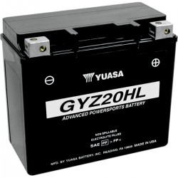 BATTERY YUASA ORIGINAL HIGH PERFORMANCE MAINTENANCE FREE GYZ-20HL 20 Ah HARLEY DAVIDSON...
