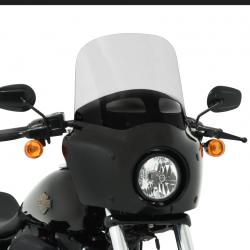 "PARABREZZA SUPERIORE 13"" 33 CM. GHOST CON PRESA ARIA PER CARENATURA ROAD WARRIOR FAIRING"