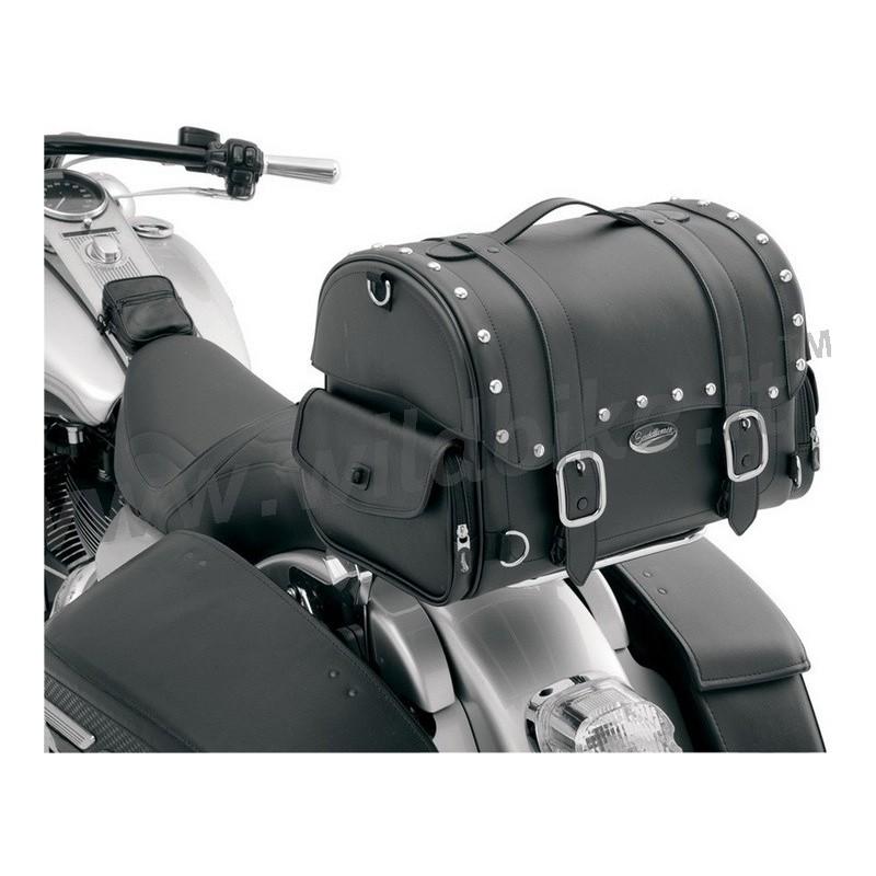 Sac fourre-tout pour sacoche de guidon Sac /à outils Sissy Bar pour Yamaha pour sacoche /à outils Honda Sportster couleur: noir