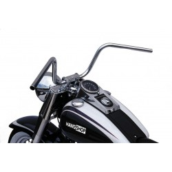 "HANDLEBAR TRW APE HANGER 22 CM CHROME 1 "" CABLE INDENT CUSTOM MOTORCYCLE AND HARLEY"