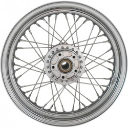 """WHEELS REPLACEMENT LACED FRONT 40 SPOKES 16"""" X 3"""" ABS CHROME HARLEY DAVIDSON XL SPORTSTER 14-20"""
