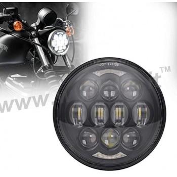 BLACK 12 LED EMC FRONT HEADLIGHT BODY EU APPROVED 5.75 SUPERLIGHT FOR HARLEY DAVIDSON