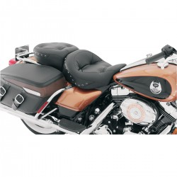 2-UP SEAT MUSTANG REGAL PILLOW™ STUDDED BC HARLEY DAVIDSON FLH FLT TOURING 08-20