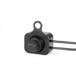 UNIVERSAL ON/OFF SWITCH BUTTON IN BLACK ALUMINUM FOR HANDLEBAR CUSTOM MOTORCYCLE