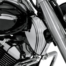CHROME NECK COVERS FOR YAMAHA XVS 950A MIDNIGHT STAR 09-16