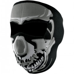 FULL FACE MASK NEOPRENE SKULL CHROME LETHAL DESIGN