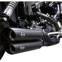 MUFFLERS EXHAUSTS S&S SLASH DOWN BLACK HARLEY DAVIDSON FXDWG FXDF 08-17