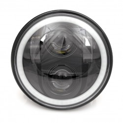 FRONT HEADLIGHT BODY LED EU APPROVED 5.75 HALO RING HARLEY DAVIDSON XL SPORTSTER 04-20