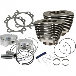 "CYLINDER KIT 4"" BORE BOLT-IN BLACK BOOSTED 110"" HARLEY DAVIDSON BIG TWIN/TWIN CAM 07-17"