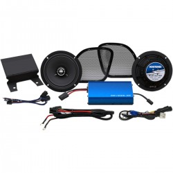 AMPLIFIER AND FRONT SPEAKER KIT HOGTUNES 225 SG FOR HARLEY DAVIDSON FLTR ROAD GLIDE 15-20