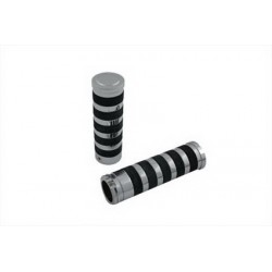 ALUMINIUM BILLET O-RING STYLE GRIPS FOR HARLEY DAVIDSON MOTORCYCLES