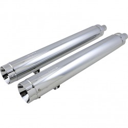 """EXHAUSTS MUFFLERS SUPERTRAPP SLIP-ON 4"""" STOUT CHROME INDIAN CHIEF ROADMASTER 14-20"""