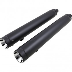 """EXHAUSTS MUFFLERS SUPERTRAPP SLIP-ON 4"""" STOUT BLACK INDIAN CHIEF ROADMASTER 14-20"""