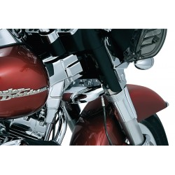 CHROME LOWER TRIPLE TREE WIND DEFLECTOR HARLEY DAVIDSON FLH/FLT TOURING 80-13