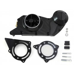 BLACK COVER CAM PRIMARY CRANKCASE AND SPROCKET HARLEY DAVIDSON XL SPORTSTER 04-20
