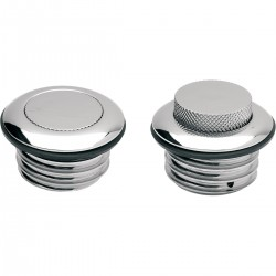 ALUMINIUM GAS CAP TANK POP-UP CHROME FOR HARLEY DAVIDSON XL SPORTSTER 96-20