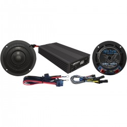 AMPLIFIER AND SPEAKERS KIT 400W WBASG HARLEY DAVIDSON FLHX STREET GLIDE 14-20