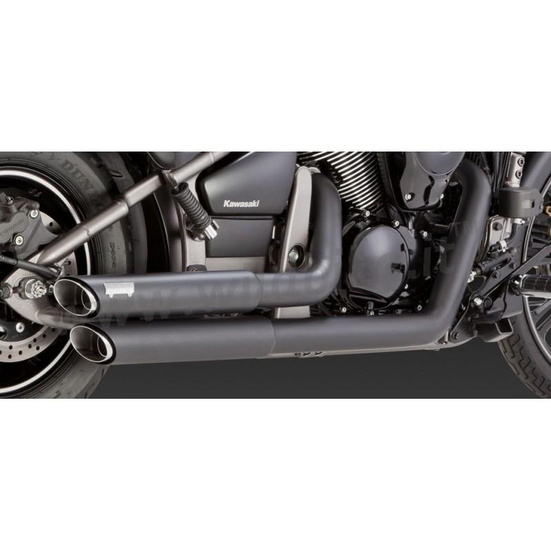 Kawasaki Vulcan Vance And Hines Twin Slash Staggered