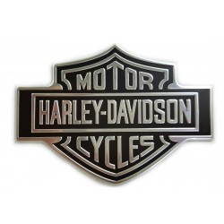 BAR & SHIELD BLACK/SILVER LOGO PLATE EMBLEM OEM 90971-79 HARLEY DAVIDSON