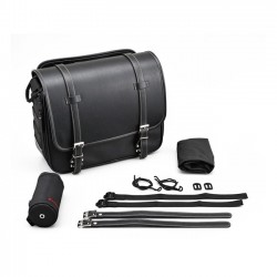 LEATHER SIDEBAG 18LT FOR CUSTOM MOTORCYCLES AND HARLEY DAVIDSON