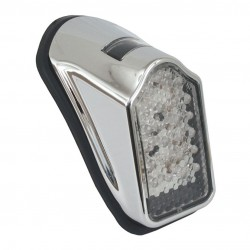 CHROME TAILLIGHT MINI TOMBSTONE LED FOR MOTORCYCLE CUSTOM AND HARLEY DAVIDSON