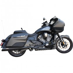"""COMPLETE EXHAUSTS SYSTEM BASSANI 4"""" TRUE DUALS BLACK INDIAN 108 CHALLENGER 20-21"""