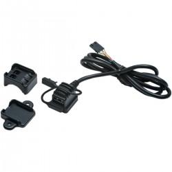 BLACK USB UNIVERSAL POWER SOURCE KURYAKYN CUSTOM MOTORCYCLE AND HARLEY DAVIDSON