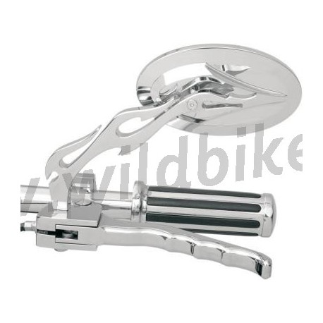Flamme miroirs ovales personnalis v lo et touring harley for Miroirs ovales