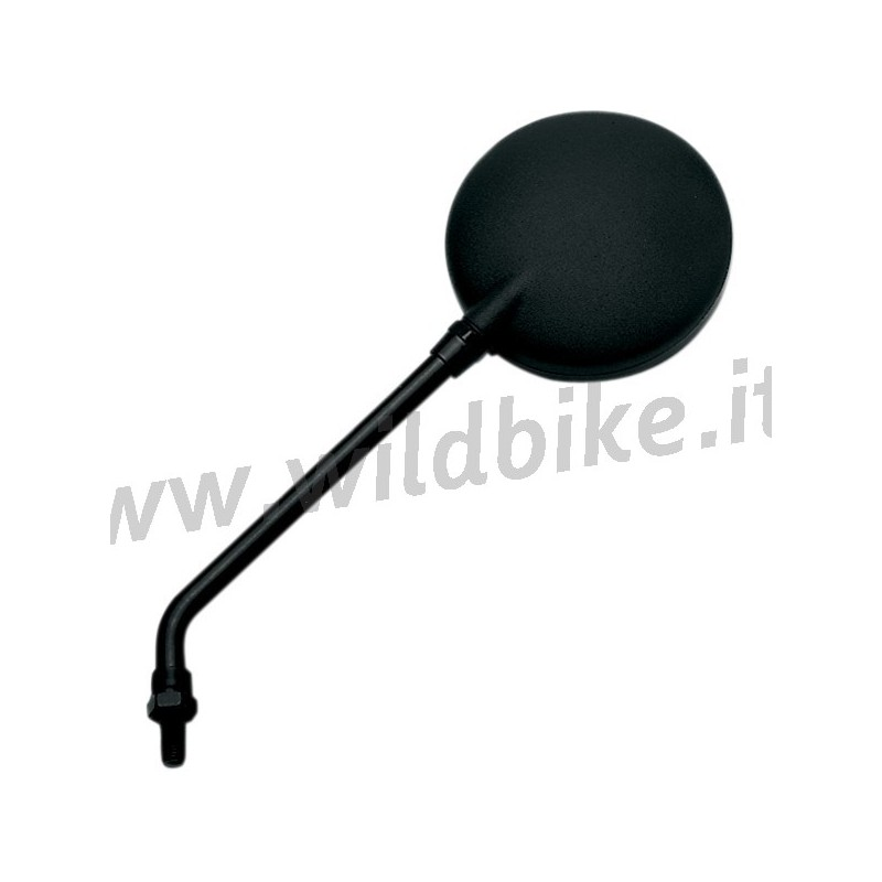 runde spiegel lange stamm universal schwarz custom bike. Black Bedroom Furniture Sets. Home Design Ideas