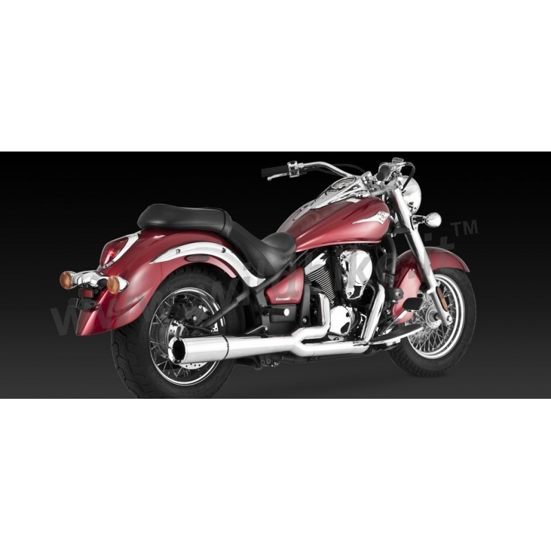 exhaust vance hines pro pipe chrome for kawasaki vn 900. Black Bedroom Furniture Sets. Home Design Ideas