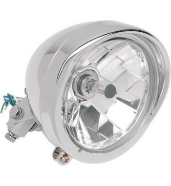 CHROME HEADLIGHT DIAMOND STYLE 5 3/4