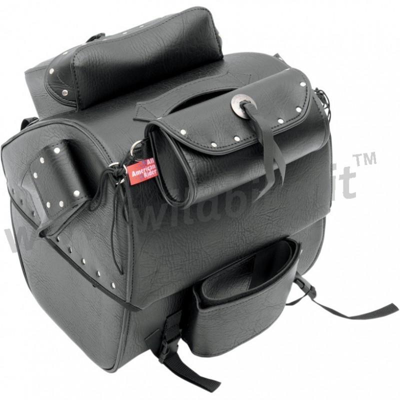 sac trunk en cuir pour sissy bar bagage custom moto et harley davidson. Black Bedroom Furniture Sets. Home Design Ideas