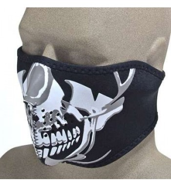 MASCHERINA NEOPRENE SOTTOCASCO CHROME SKULL LETHAL DESIGN