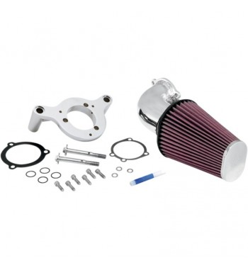 KIT AIRCHARGER K&N CROMATO PER HARLEY DYNA SOFTAIL '99 -'12