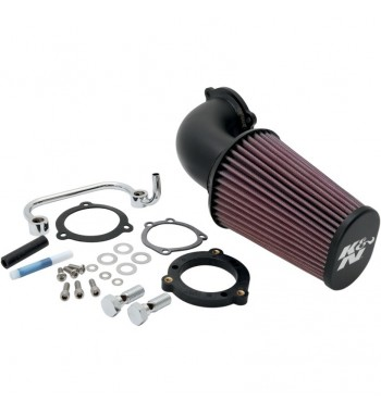 KIT FILTRO ARIA AIRCHARGER K&N 90° NERO HARLEY XL SPORTSTER '07-'13