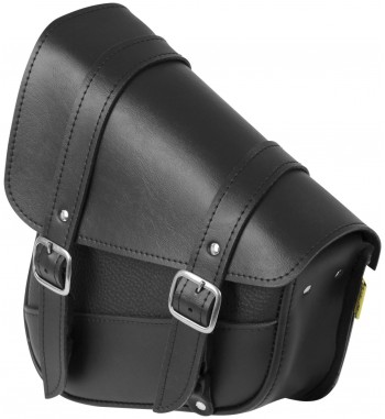 BORSA NERA IN PELLE PER FORCELLONE HARLEY DAVIDSON SOFTAIL