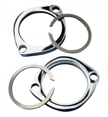 EXHAUSTS CHROME FLANGES KIT FOR PIPES AND MUFFLERS HARLEY DAVIDSON