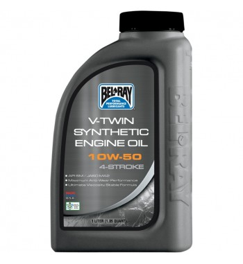 MOTOR OIL BEL RAY 4 STROKES V-TWIN SINTHETIC 10W50 1 LT. HARLEY DAVIDSON AND CUSTOM MOTORCYCLE