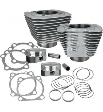 KIT SILVER CYLINDRE S&S POUR CONVERSION 1200 CC HARLEY DAVIDSON XL SPORTSTER ' 87-'18