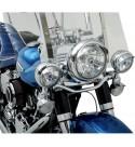 VISIERE TESINE CROMATE PER FARI LATERALI 110 MM MOTO CUSTOM E HARLEY