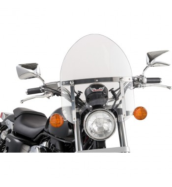UNIVERSAL MINI POLICE CLEAR WINDSCREEN FOR CUSTOM BIKE
