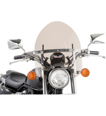 UNIVERSAL MINI WINDSHIELD SMOKED GREY POLICE FOR CUSTOM BIKE