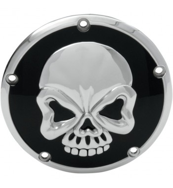 CLUTCH DERBY COVER 3D CHROME SKULL for HARLEY DAVIDSON TWIN CAM '99-'14