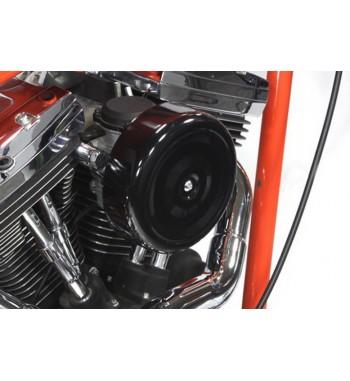 "AIR FILTER BLACK ROUND STYLE HIGH POWER 7 "" HARLEY DAVIDSON XL SPORTSTER '07-'14"