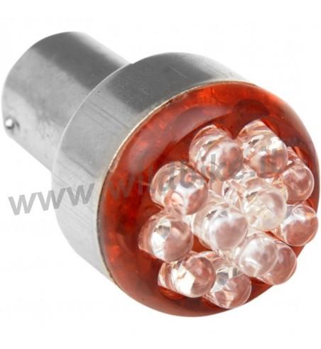LAMPADINA BULBO DI RICAMBIO A LED STYLE 1157 12 V. DOPPIA FUNZIONE ROSSA