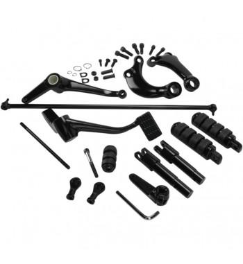 Comandi Avanzati CNC per Harley Sportster 883 Custom 04-10 nero