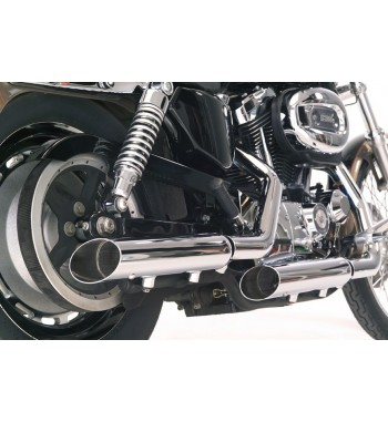 "SCARICHI MARMITTE 3"" SLASH OUT CROMATI REPLICA SCREAMIN EAGLE HARLEY DAVIDSON XL SPORTSTER '04-'13"