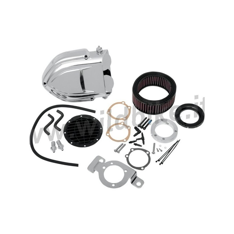 Harley Hypercharger Air Cleaner: AIR CLEANER HYPERCHARGER PRO-R BOX KIT CHROME For KAWASAKI