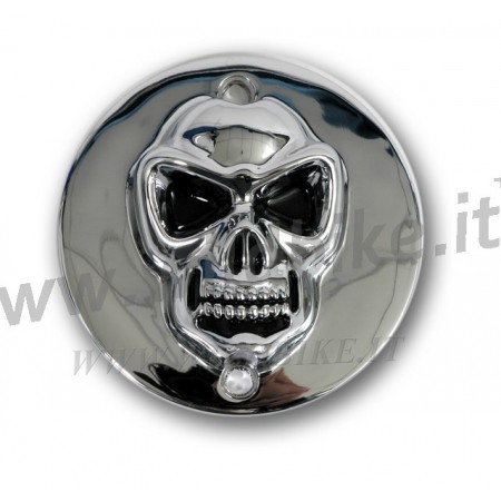 POINT COVER SKULL TESCHIO 3D CROMATO PER HARLEY XL SPORTSTER 883